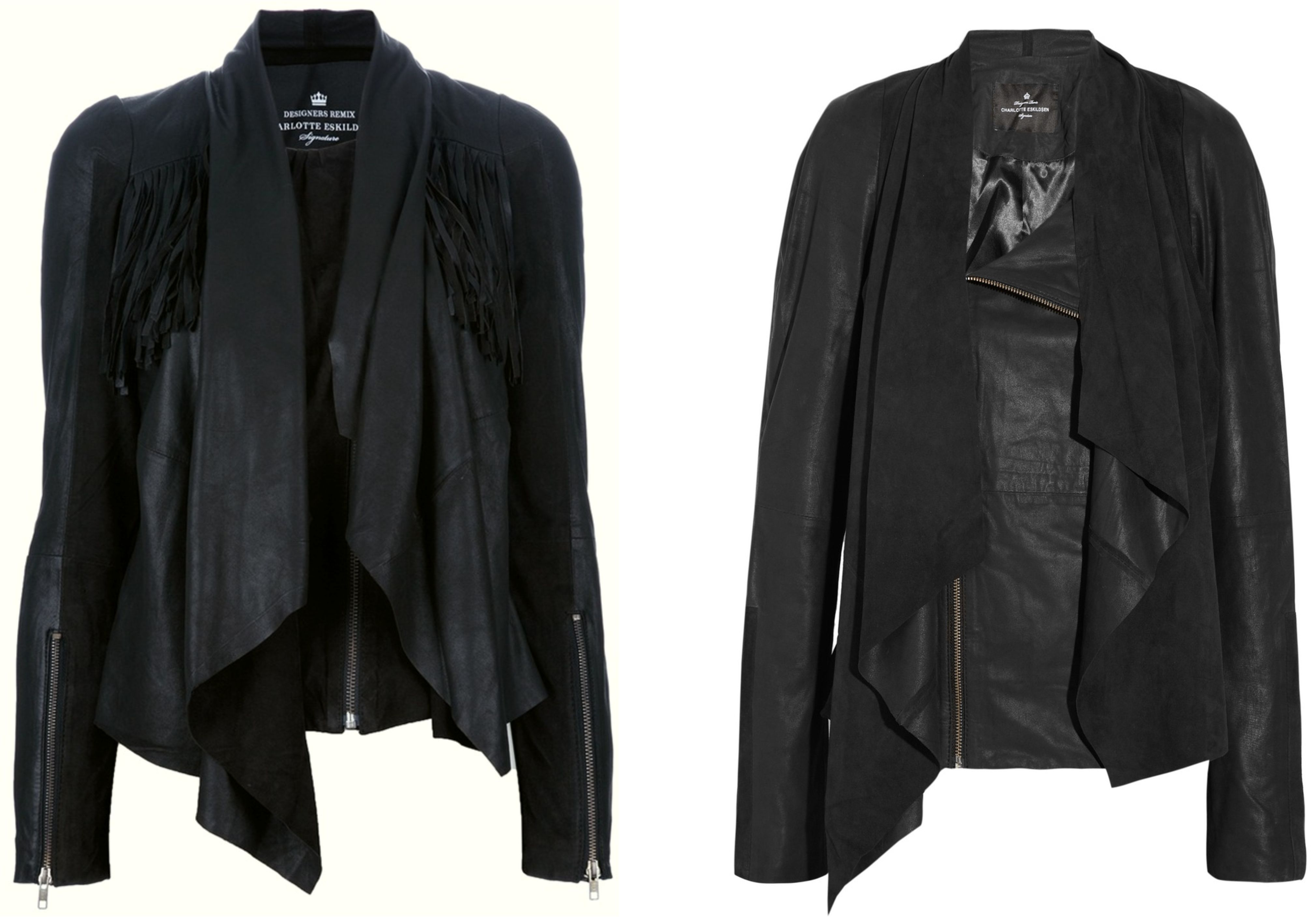 designers remix leather jackets